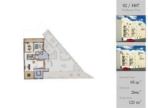apartment for sale Sannat, 95 ㎡, bedrooms: 2, new development