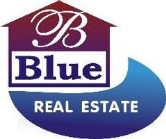 Blue real estate estate agent